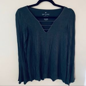 American Eagle Soft and Sexy Bell Sleeve Top